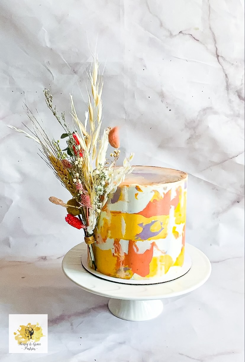 Signature Marbled Cake w_ Flowers